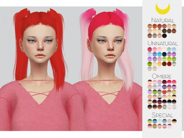 The Sims Resource: LeahLillith`s Bling hair retextured by Kalewa a for Sims 4