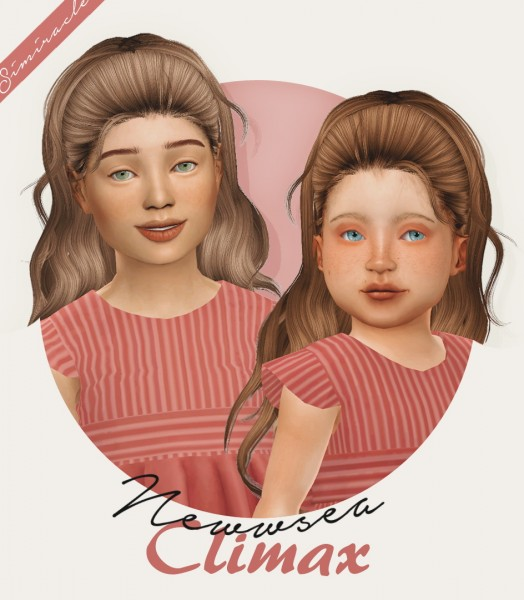Simiracle: Newsea`s Climax hair retextured   Kids and Toddlers version for Sims 4