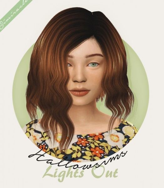 Simiracle: Hallowsims Lights Out hair retextured   Kids Version for Sims 4
