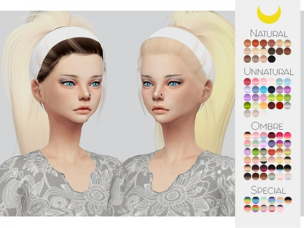 The Sims Resource: Leahlillith`s Tori hair retextured by kalewa a for Sims 4