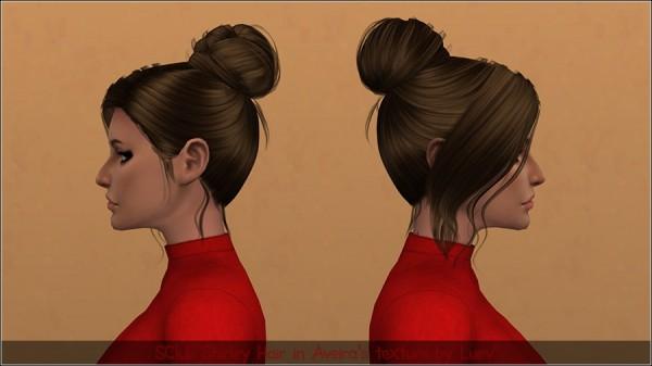Mertiuza: SClub`s Shirley hair retextured for Sims 4