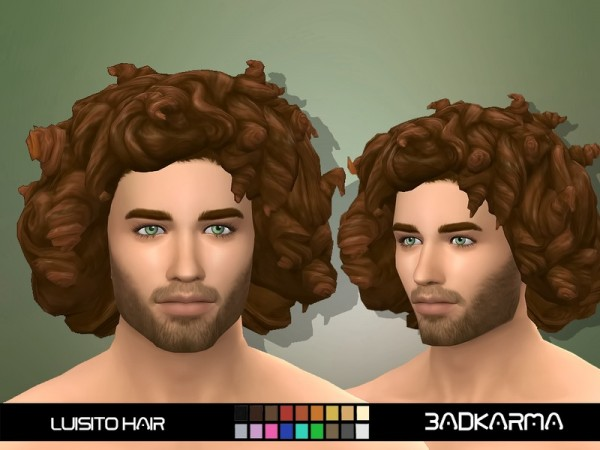 The Sims Resource: Luisito Hair by BADKARMA for Sims 4
