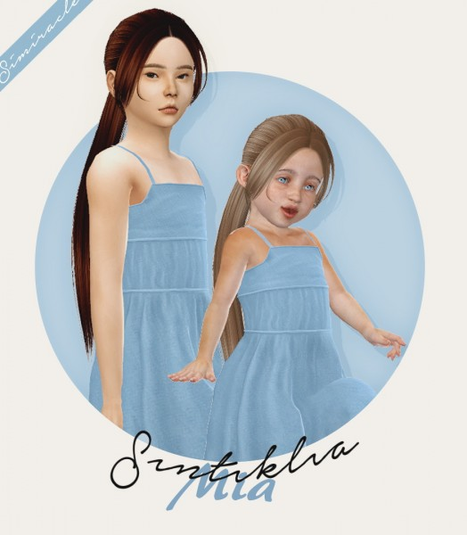 Simiracle: Sintiklia`s Mia hair retextured   Kids and Toddlers versions for Sims 4