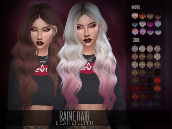 The Sims Resource: Raine Hair by LeahLillith for Sims 4