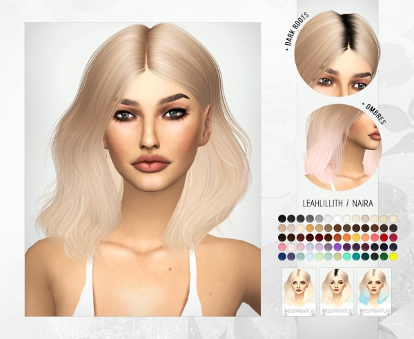 Miss Paraply: Leahlillith`s Naira hair retextured for Sims 4