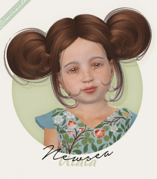 Simiracle: Newsea`s Ulala hair retextured   Toddler Version for Sims 4