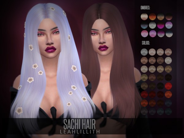 The Sims Resource: Sachi Hair by LeahLillith for Sims 4