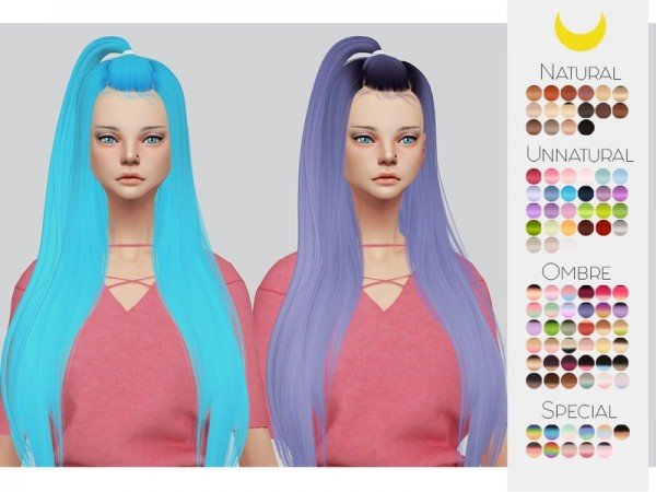 The Sims Resource: LeahLillith`s Radiant hair retextured by Kalewa a for Sims 4