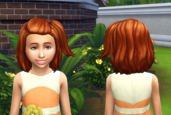 Mystufforigin: Melanie Hair V2 for Girls for Sims 4