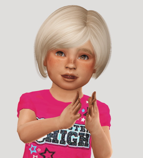 Simiracle: AdeDrma`s Daisy hair retextured   Kids dn Toddlers version for Sims 4