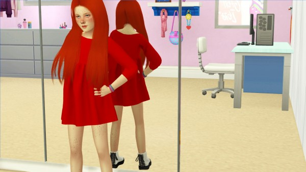 Coupure Electrique: Simplciaty`s Belive hair retextured kids version for Sims 4