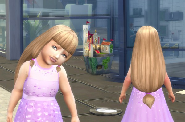 The Sims Resource: Lila Hair retextured for toddlers for Sims 4