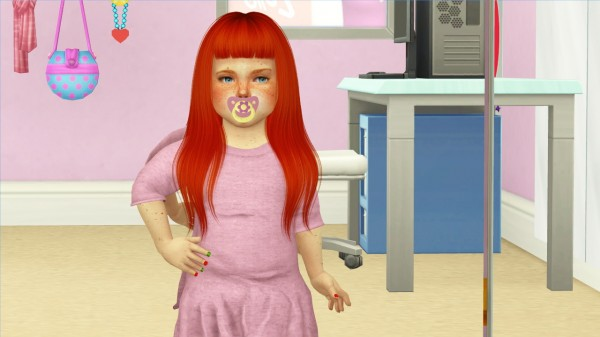 Coupure Electrique: Nightcrawler`s Bitten hair retextured kids and toddlers version for Sims 4