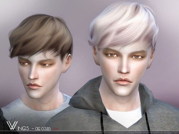 The Sims Resource: WINGS OE0326 hair for Sims 4