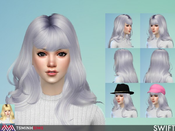 The Sims Resource: Swift Hair 57 by TsminhSims for Sims 4