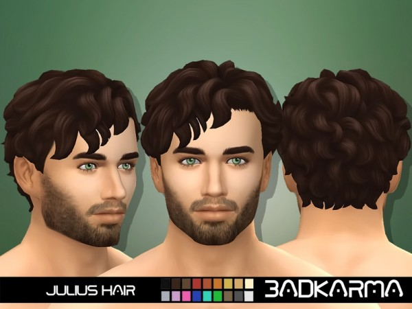 The Sims Resource: Julius Hair retextured by BADKARMA for Sims 4