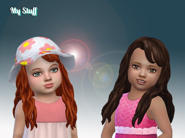 The Sims Resource: Daisy Hair V2 for Toddlers for Sims 4