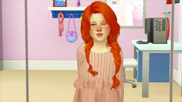 Coupure Electrique: WINGS OE0316 hair retextured kids and toddlers version for Sims 4