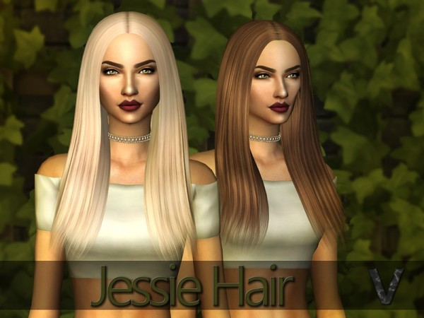 The Sims Resource: Jessie Hair by Vallani for Sims 4