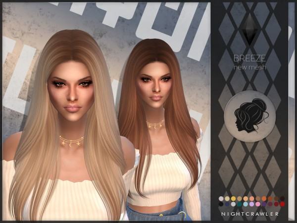 The Sims Resource: Breeze hair by Nightcrawler for Sims 4