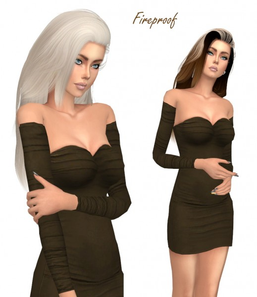 Sims Fun Stuff: Simpliciaty`s Fireproof hair retextured for Sims 4