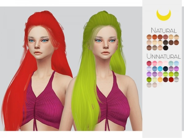 The Sims Resource: Leahlillith`s Nelli hair retextured by Kalewa for Sims 4