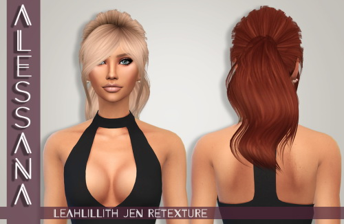 Alessana Sims: LeahLillith`s Jen hair retextured for Sims 4