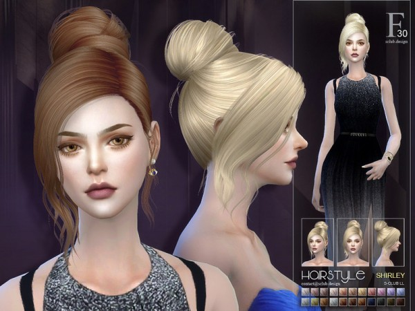 The Sims Resource: Shirley n20 hair by S Club for Sims 4