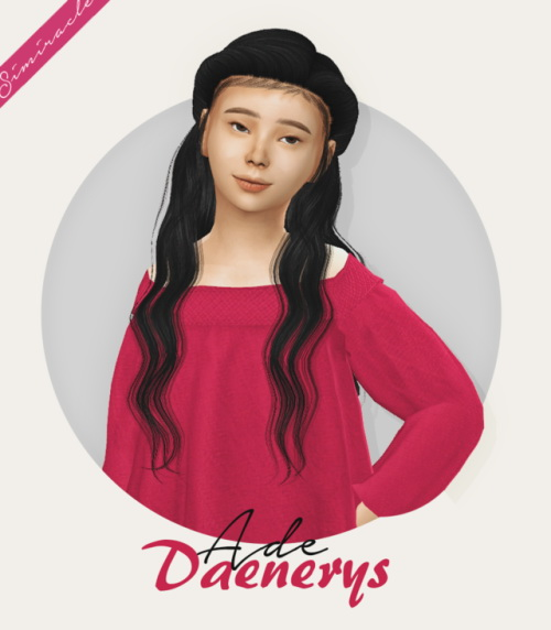 Simiracle: AdeDarma`s Daenerys hair retextured   Kids Version for Sims 4