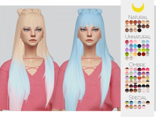 The Sims Resource: LeahLillith`s Everyday Hair Retextured by kalewa a for Sims 4