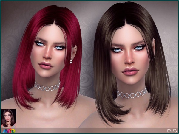 The Sims Resource: Dua Hair by Anto for Sims 4