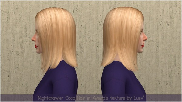 Mertiuza: Nightcrawler`s Coco hair retextured for Sims 4