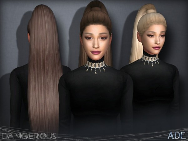 The Sims Resource: Dangerous hair by Ade Darma for Sims 4