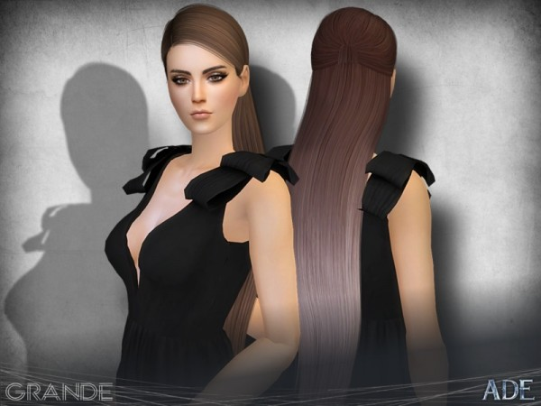 The Sims Resource: Grande hair by Ade Darma for Sims 4