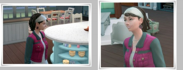 Birksches sims blog: Mia's Bang and Band hair for Sims 4