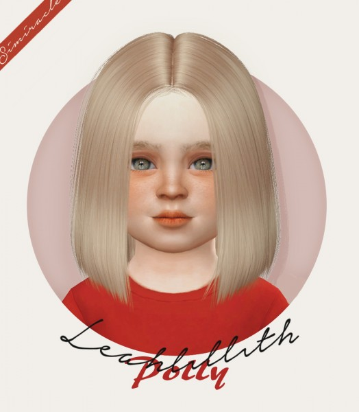 Simiracle: LeahLillith`s Polly hair retetured for Sims 4