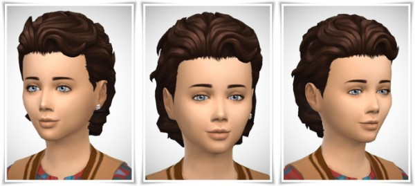 Birksches sims blog: Boy's Swept Back with Neck Hair for Sims 4