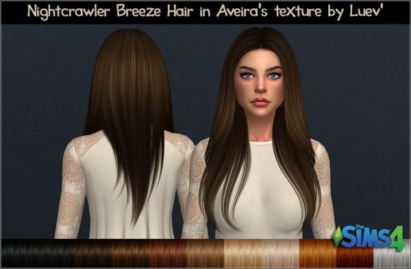 Mertiuza: Nightcrawler`s Breeze hair retextured for Sims 4