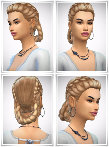 Birksches sims blog: Candlelight Braids hair for Sims 4