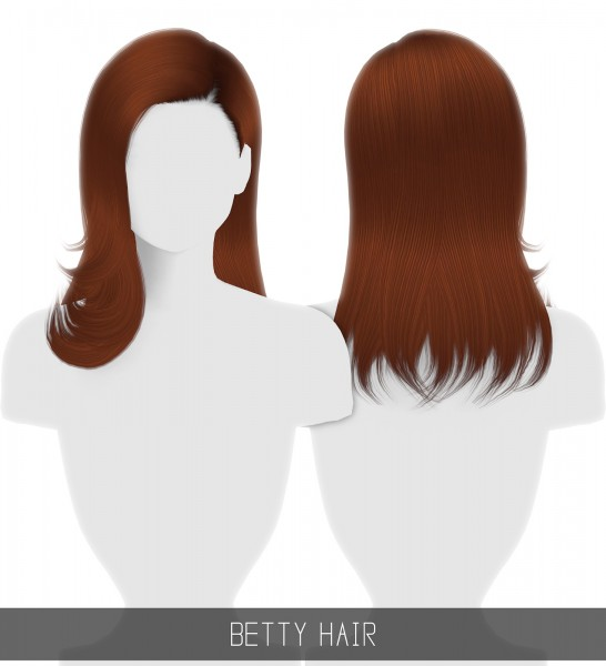 Simpliciaty: Betty hair for Sims 4