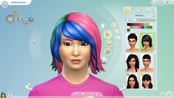 Mod The Sims: WWE Asukas Hair by EmilitaRabbit for Sims 4