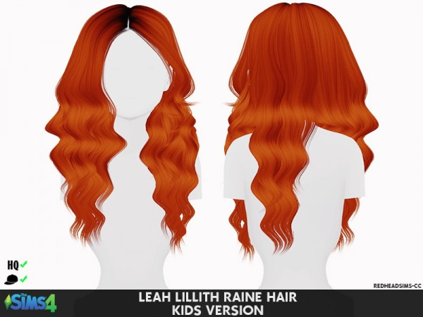 Coupure Electrique: LeahLillith`s Raine Hair retextured kids and toddlers version for Sims 4