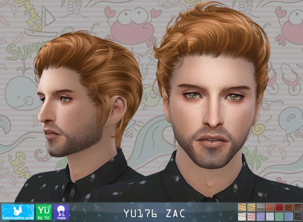 New Sea: JU 176 Zac hair for Sims 4