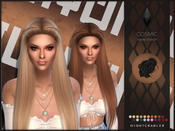 The Sims Resource: Cosmic hair by Nightcrawler for Sims 4