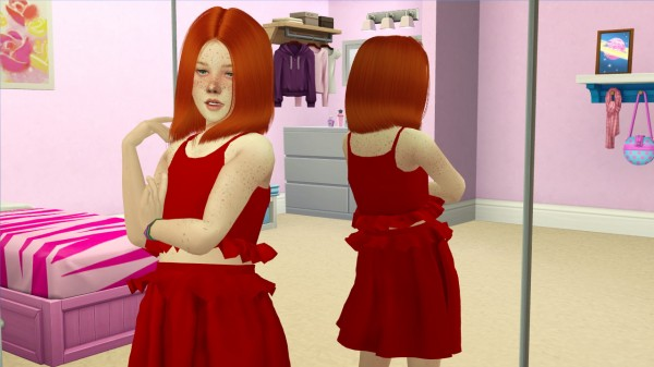 Coupure Electrique: LeahLillith`s Polly hair retextured kids and toddlers version for Sims 4