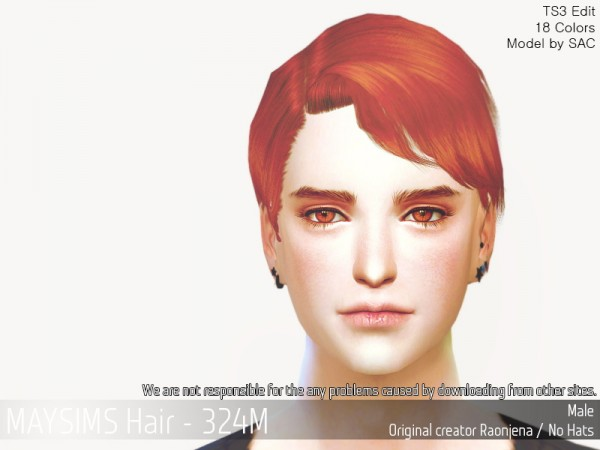 The Sims Resource: MAY 324M hair retextured for Sims 4