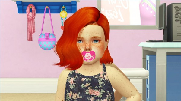 Coupure Electrique: Wings OE0309 F hair retextured toddlers version 1 for Sims 4