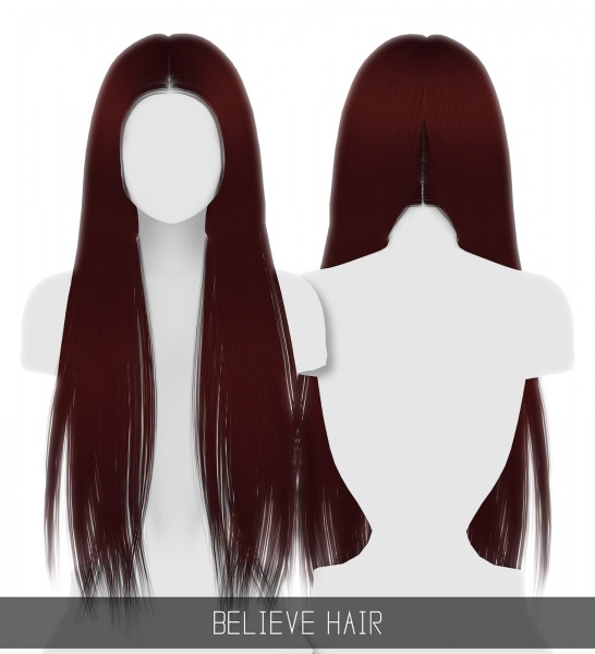 Simpliciaty: Belive hair for Sims 4