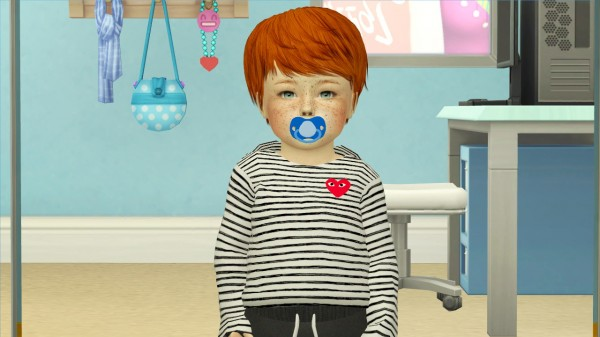 Coupure Electrique: MAY 281 hair retextured toddler version for Sims 4