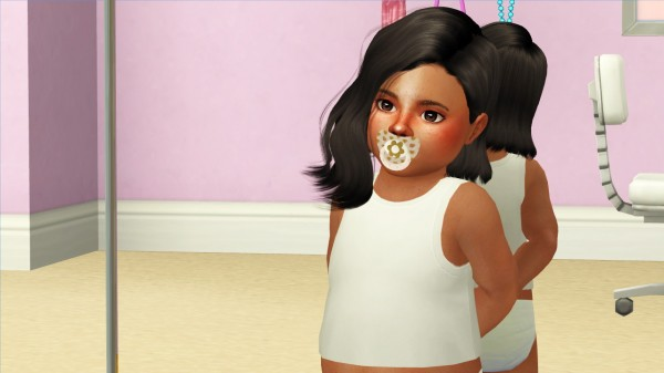 Coupure Electrique: Wings OE0309 F hair retextured toddlers version 2 for Sims 4